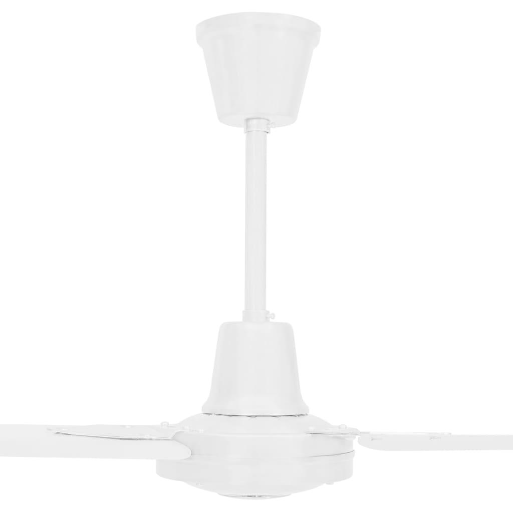 vidaXL Ventilator de tavan, alb, 142 cm