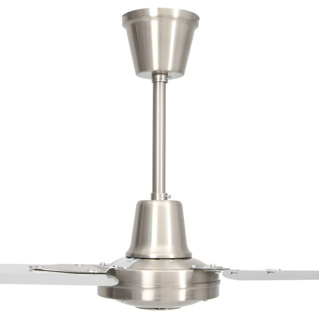 vidaXL Ventilator de tavan, argintiu, 142 cm