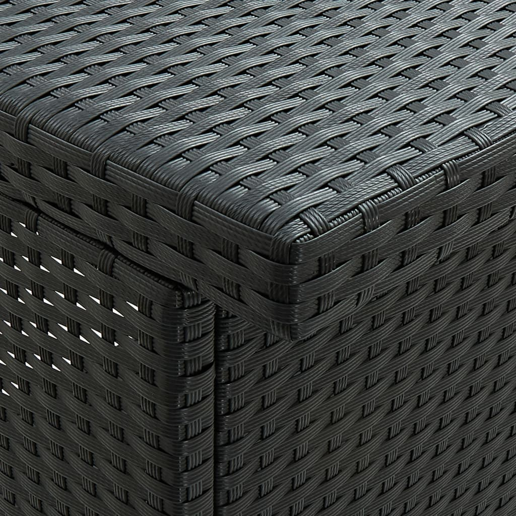 vidaXL 3-delige Barset poly rattan zwart