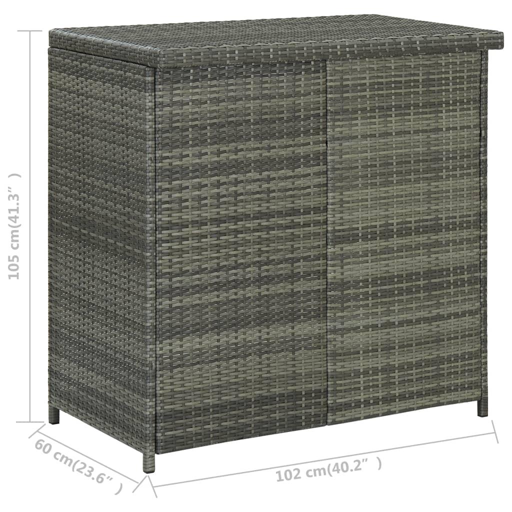 vidaXL 3-delige Barset poly rattan grijs