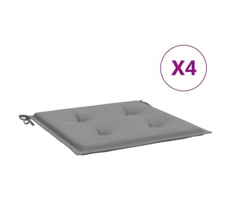 vidaXL Coussins de chaise de jardin 4 pcs Gris 50x50x4 cm Tissu