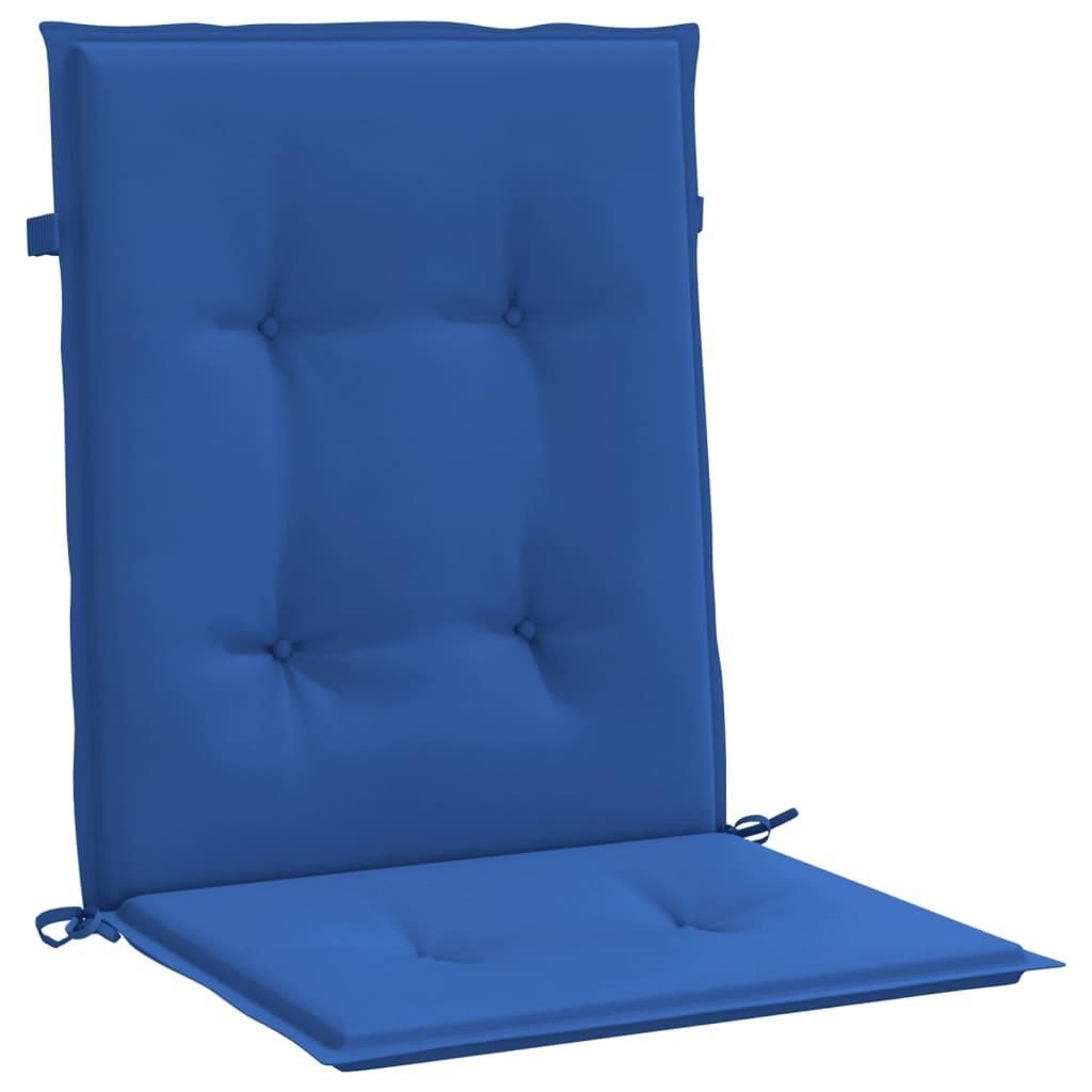vidaXL Tuinstoelkussens 2 st 100x50x4 cm koningsblauw