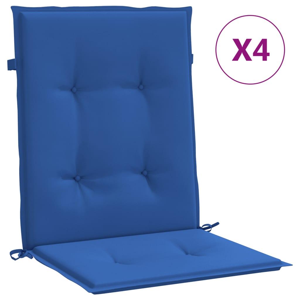 999314144 Gartenstuhlauflagen 4 Stk. Königsblau 100x50x4 cm