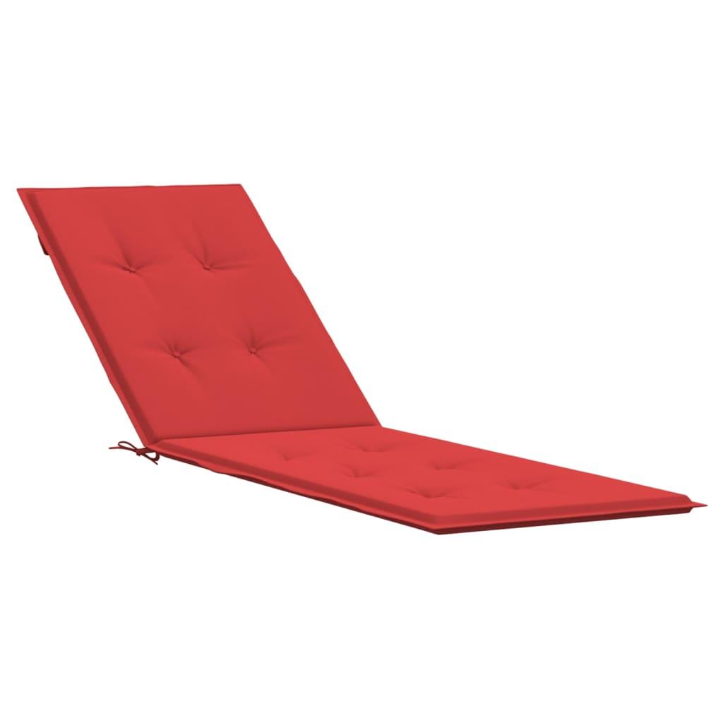 <ul><li>Farbe: Rot</li><li>Material: Stoff (100% Polyester)</li><li>Gesamtabmessungen: (75 + 105) x 50 x 4 cm (L x B x T)</li></ul>