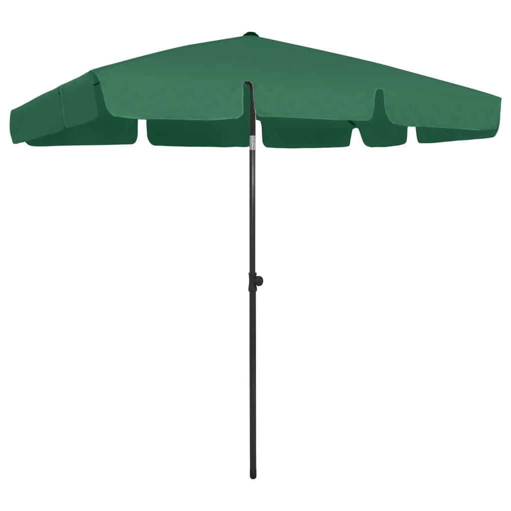 <ul><li>Farbe: Grün</li><li>Material: Polyester</li><li>Mastdurchmesser: 28/32 mm</li><li>Höhenbereich: 180 - 245 cm</li><li>Schirmfläche: 200 x 125 cm (L x B)</li><li>Witterungs- und UV-beständig</li><li>Kippbar</li><li>Montage erforderlich: Ja</li></ul>