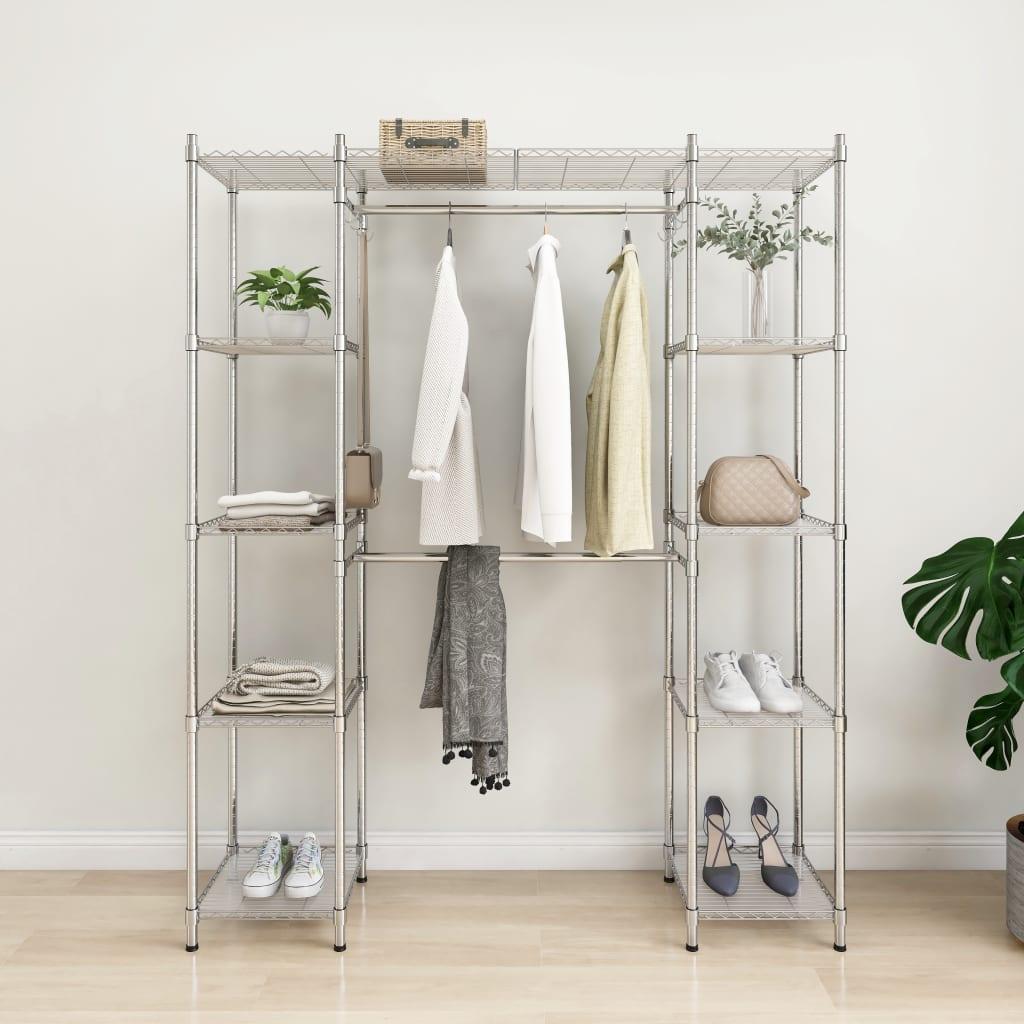 vidaXL Cuier pentru haine extensibil, crom, 500 kg vidaxl.ro