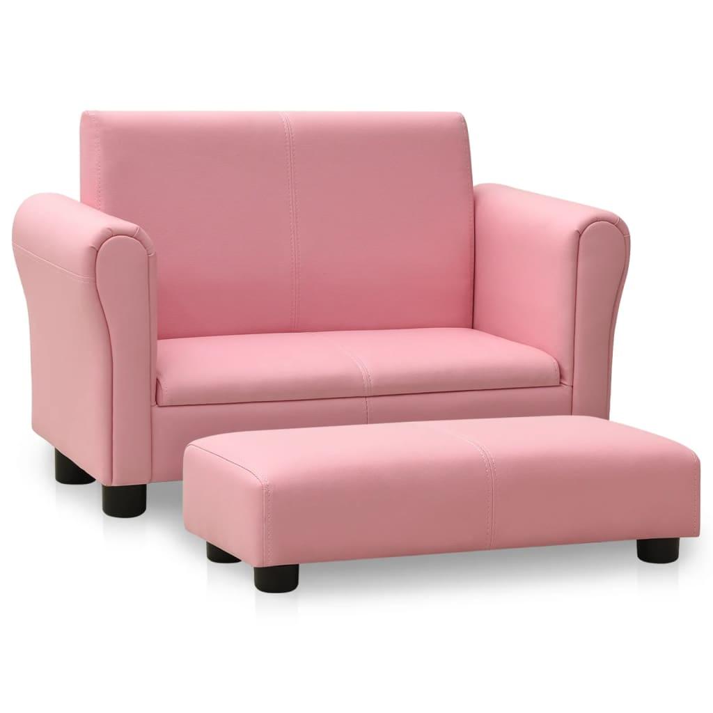 Lastediivan jalatoega, roosa..