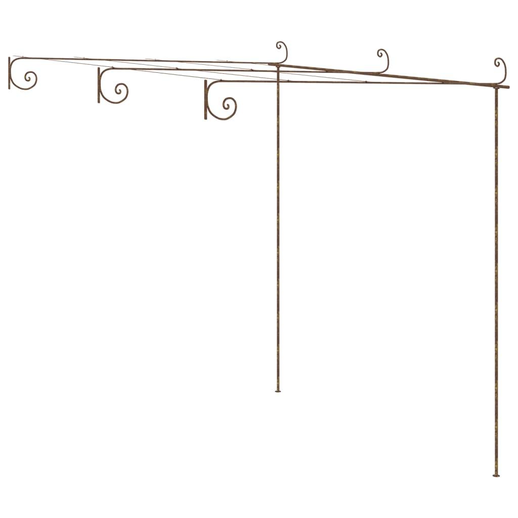 vidaXL Arcadă de grădină, trandafiri, maro antic, 3x3x2,5 m, fier vidaxl.ro