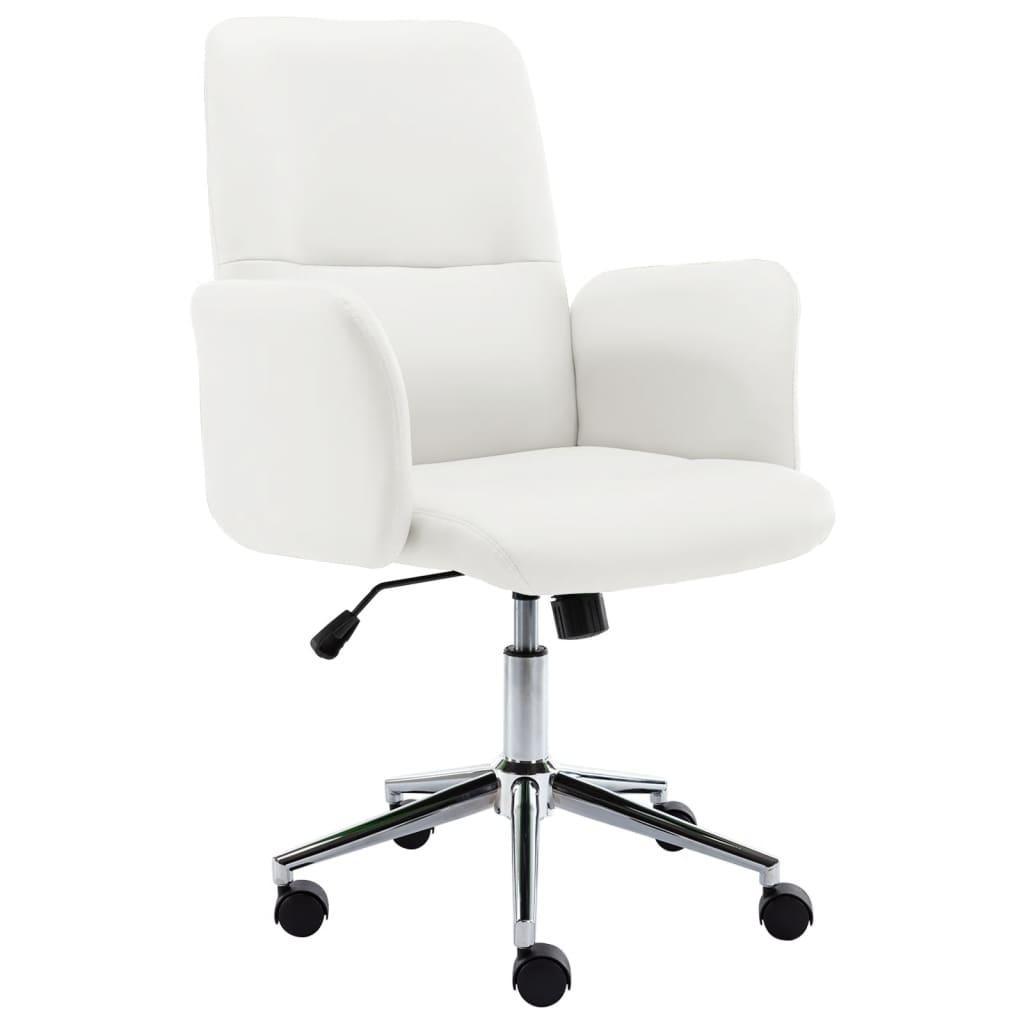vidaXL Uredska stolica od umjetne kože bijela