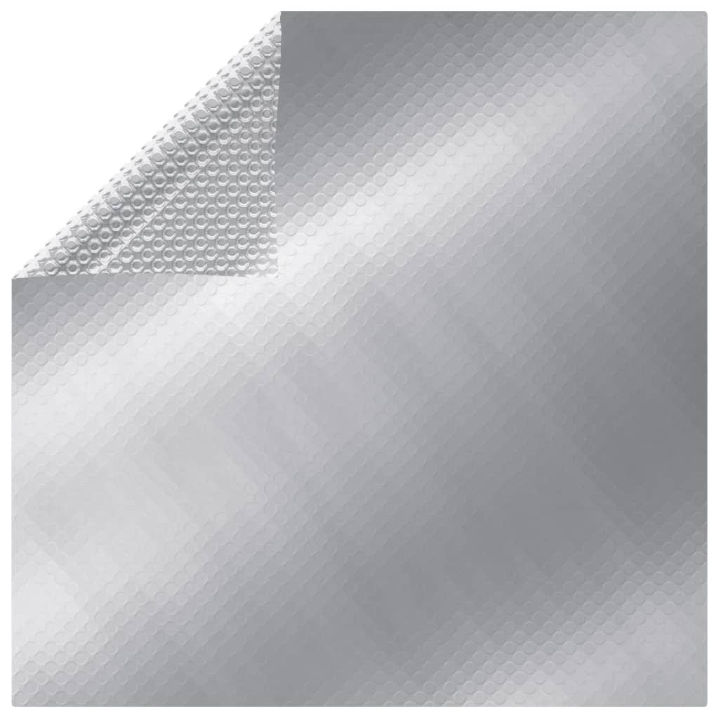 vidaXL Folie solară plutitoare piscină dreptunghiular argintiu 8x5m PE poza vidaxl.ro