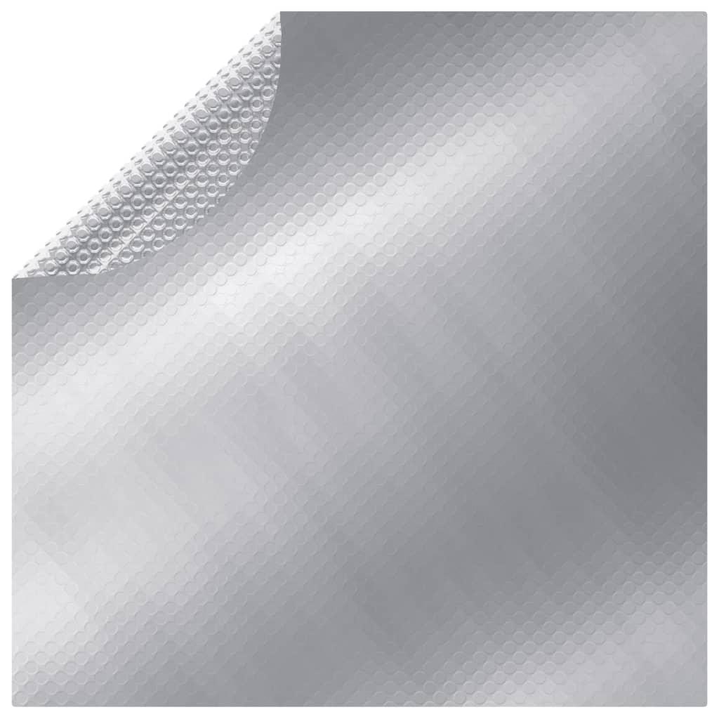 vidaXL ezüst polietilén medencetakaró 250 cm