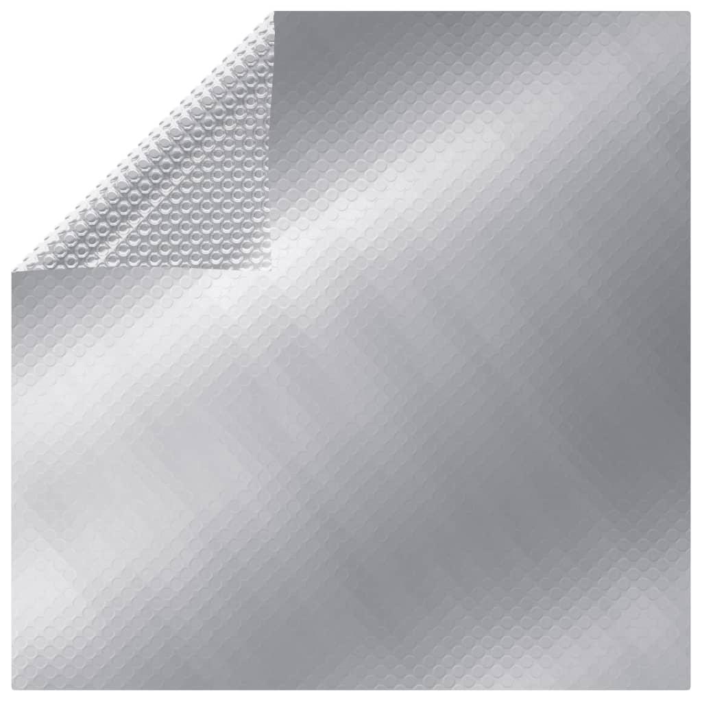 vidaXL ezüst polietilén medencetakaró 549 x 274 cm