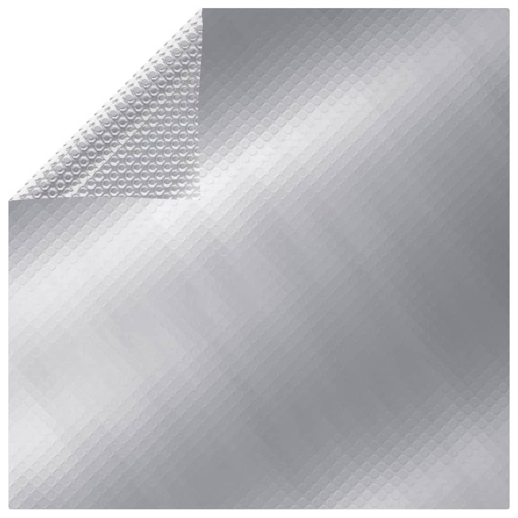 vidaXL ezüstszínû négyszögletes PE medencetakaró 500 x 300 cm