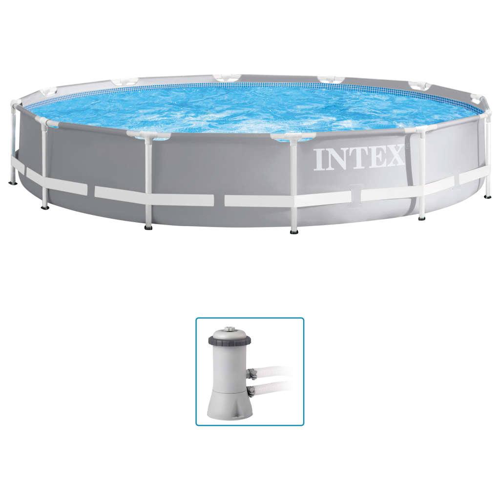 Intex Set de piscină Prism Frame Premium, 366 x 76 cm imagine vidaxl.ro