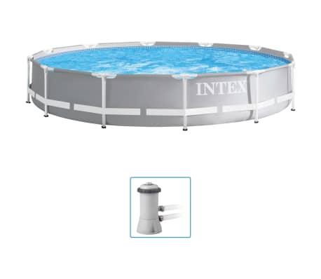 Intex Basen Prism Frame Premium z akcesoriami, 366x76 cm