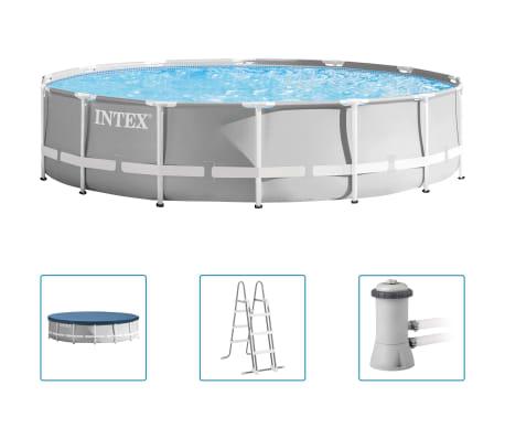 Intex Basen Prism Frame Premium z akcesoriami, 427x107 cm