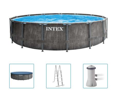 Intex Greywood Prism Frame Premium-poolset 457x122 cm