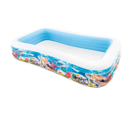 Intex Swim Center Familienpool 305x183x56 cm Meerestiere-Design