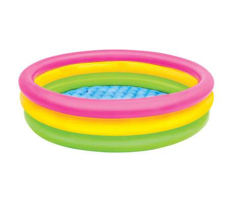 Intex Uppblåsbar pool Sunset 3 ringar 114x25 cm