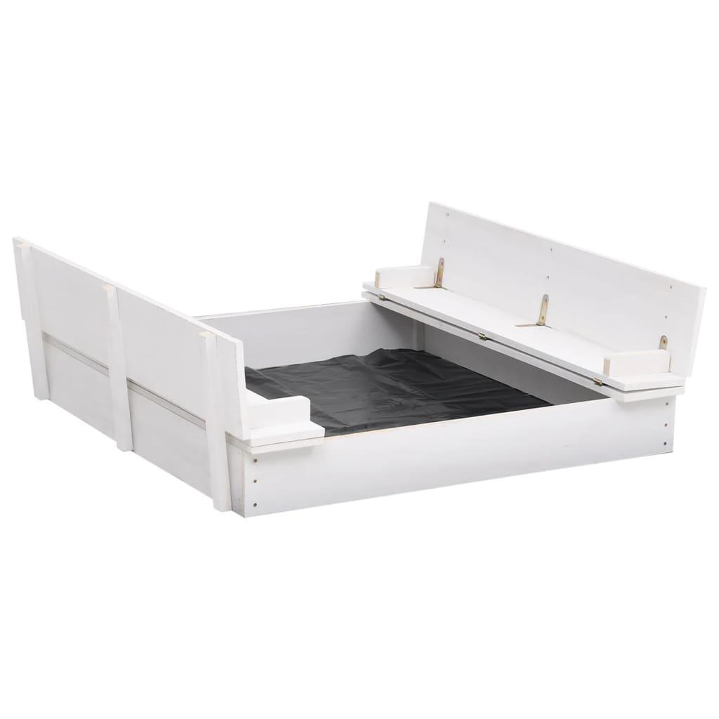 vidaXL Pískoviště jedlové dřevo bílé 95 x 90 x 15 cm