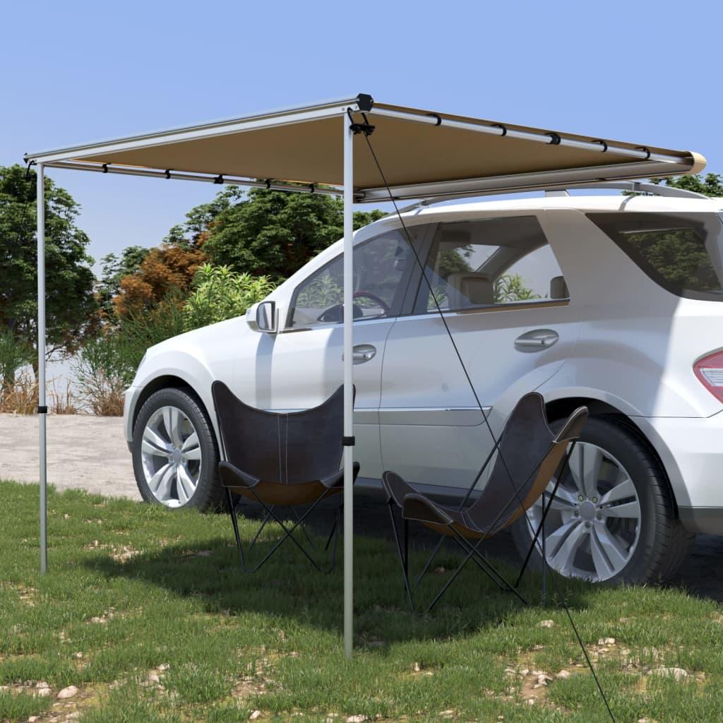 vidaXL Tenda za kamp-prikolicu i karavan 2,4 x 2 x 2,15 m bež