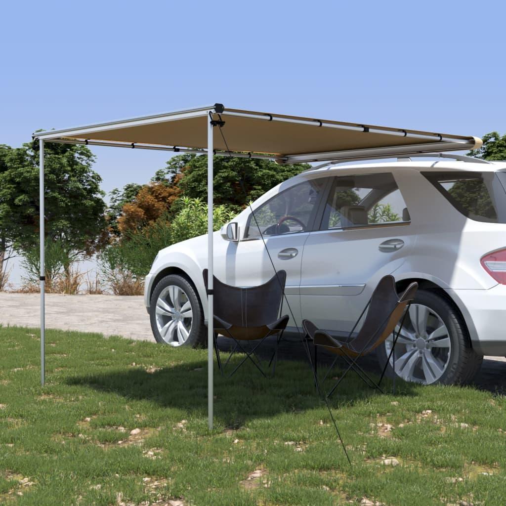 vidaXL Tenda za kamp-prikolicu i karavan 2,4 x 2,5 x 2,15 m bež