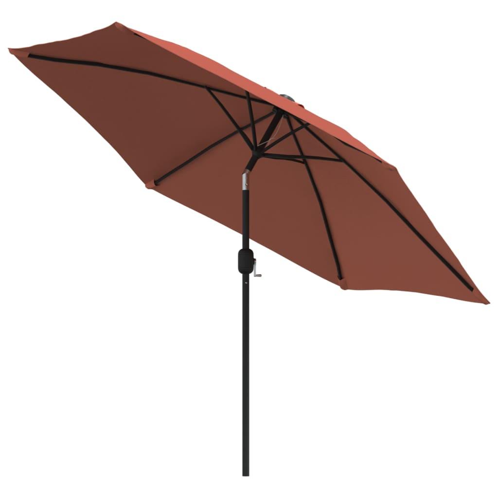 vidaXL Parasol met metalen paal 300 cm terracottakleurig