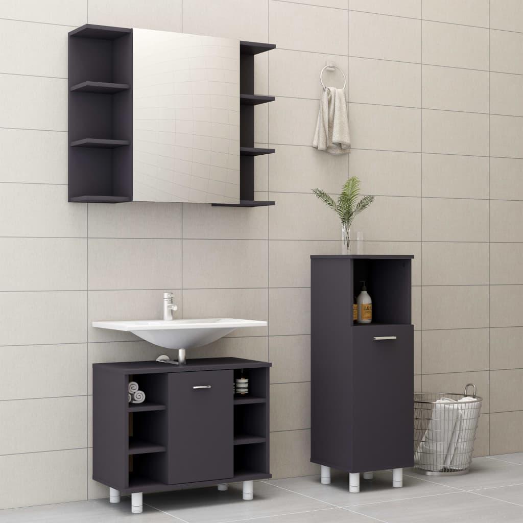 3-osaline vannitoamööbel, ..