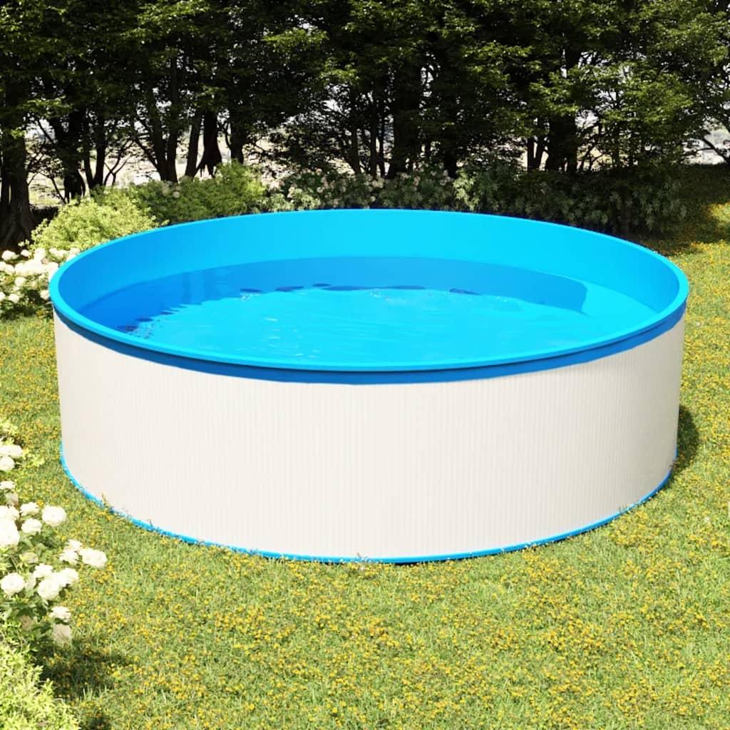 Nadzemní bazén 350 x 90 cm bílý