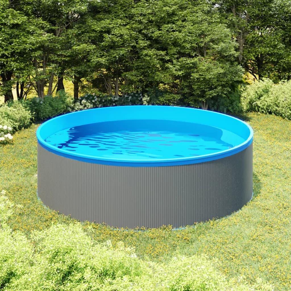 Nadzemní bazén 350 x 90 cm šedý