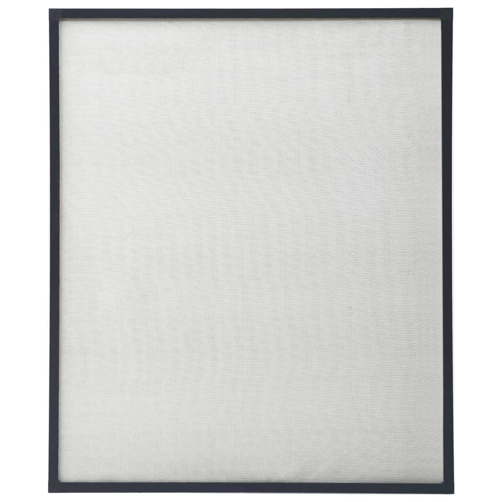 Okenní síť proti hmyzu antracitová 100 x 120 cm