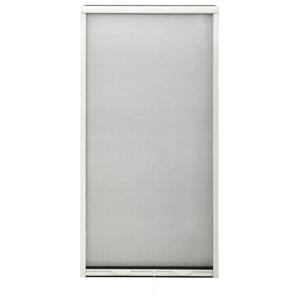 Roletová okenní síť proti hmyzu hliník bílá 70 x 150 cm