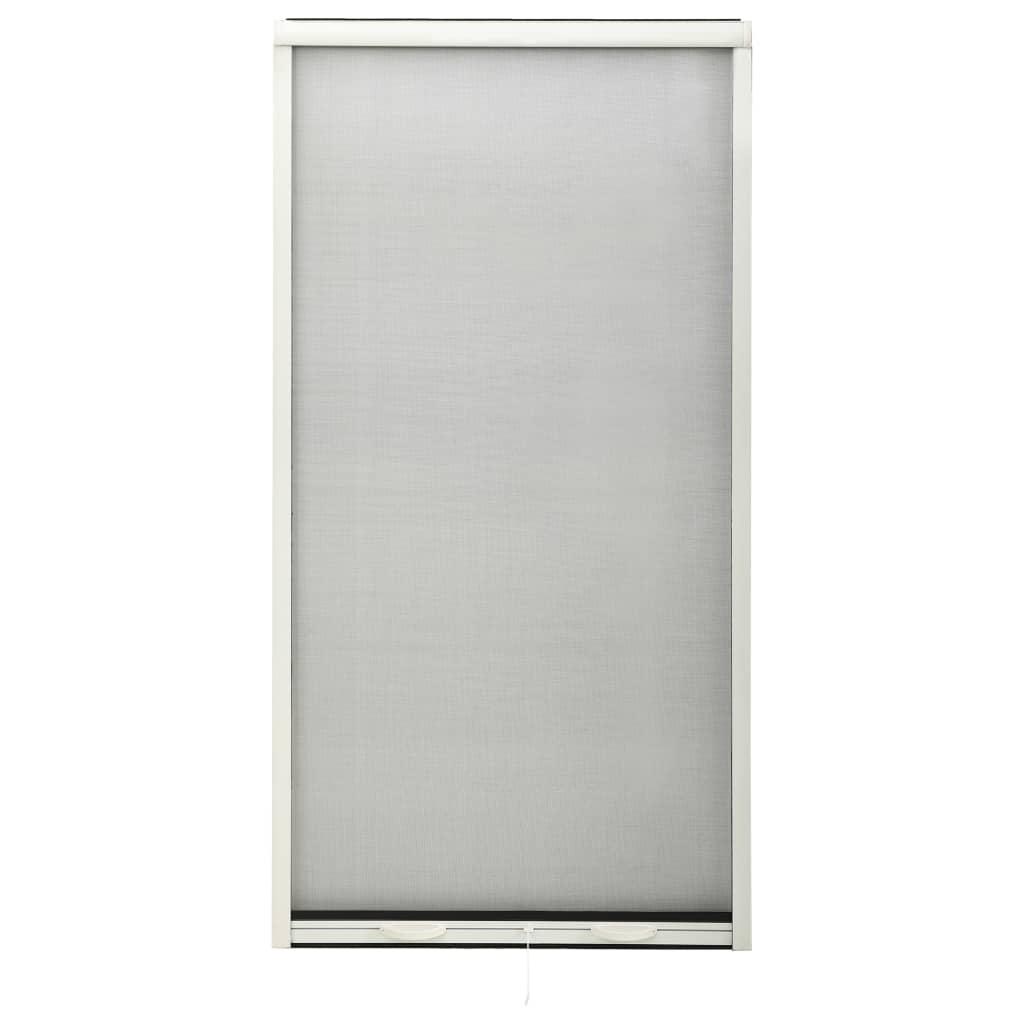 Roletová okenní síť proti hmyzu hliník bílá 90 x 170 cm