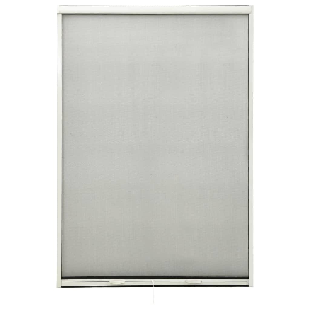 Insektenschutzrollo für Fenster Weiß 110×170 cm