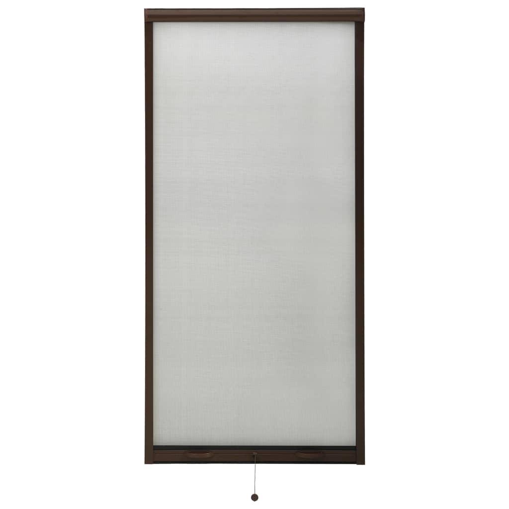 Rolovací okenní síť proti hmyzu hliník hnědá 60 x 150 cm