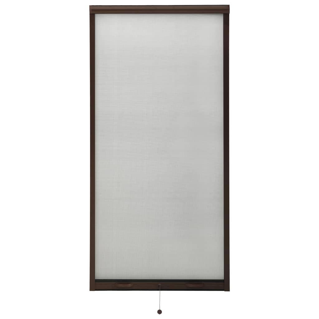 Insektenschutzrollo für Fenster Braun 80×170 cm