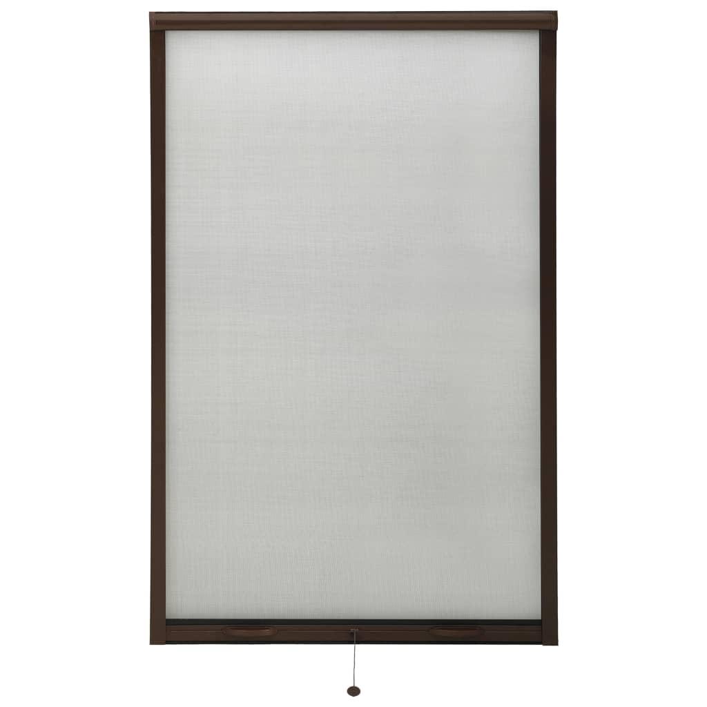 Roletová okenní síť proti hmyzu hliník hnědá 100 x 170 cm