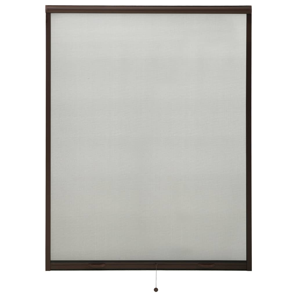 Rolovací okenní síť proti hmyzu hnědá 120 x 170 cm