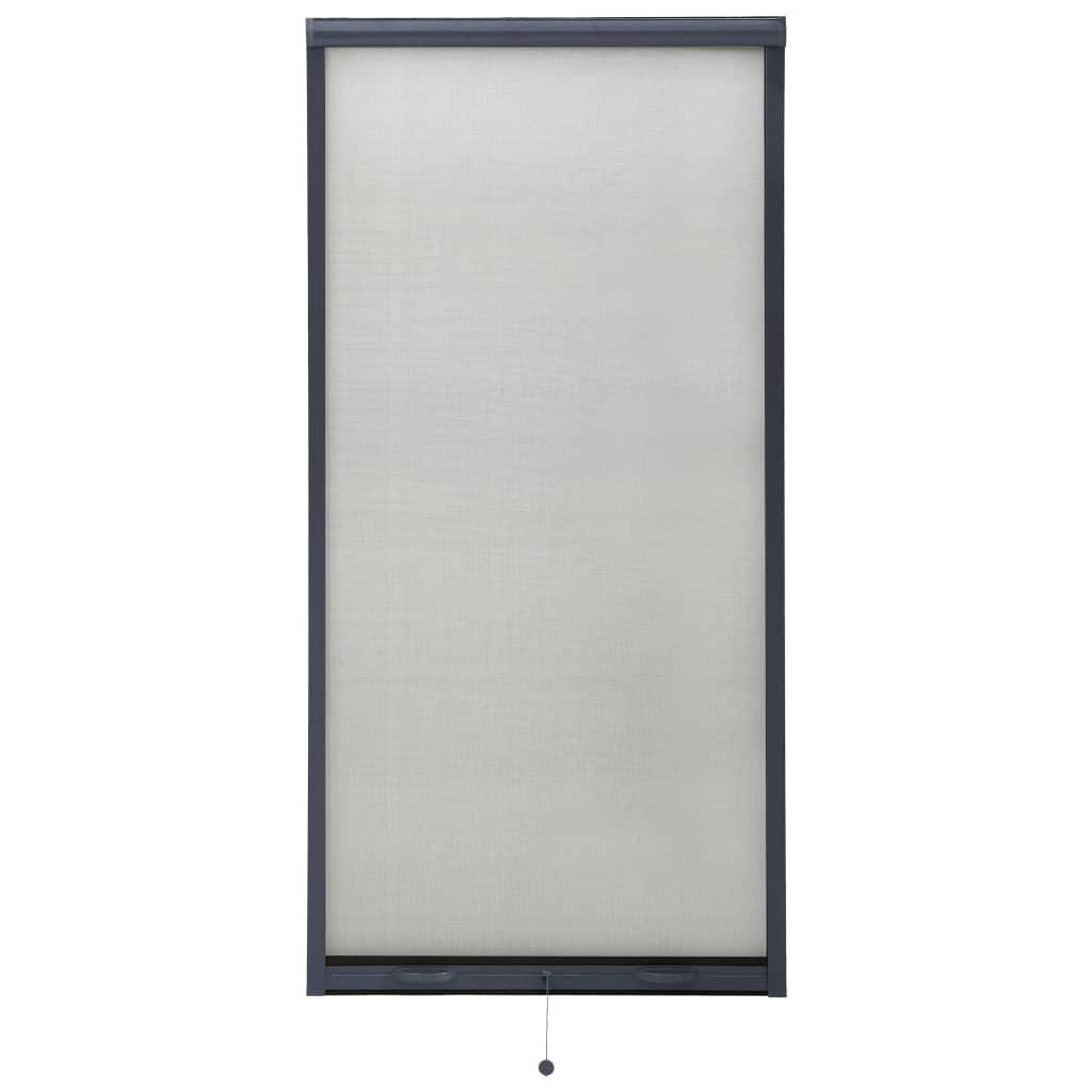 Rolovací okenní síť proti hmyzu antracitová 80 x 170 cm