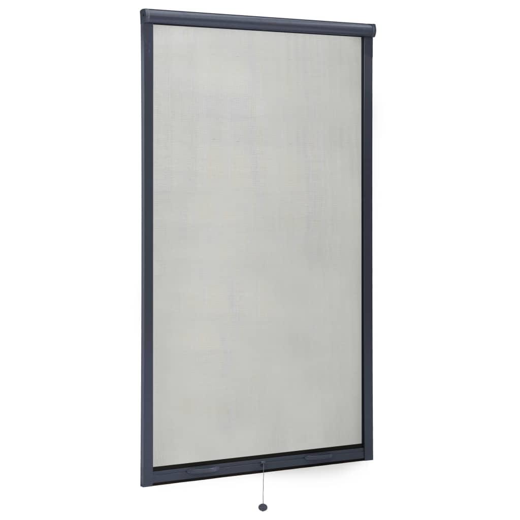 Roletová okenní síť proti hmyzu hliník antracitová 90 x 170 cm