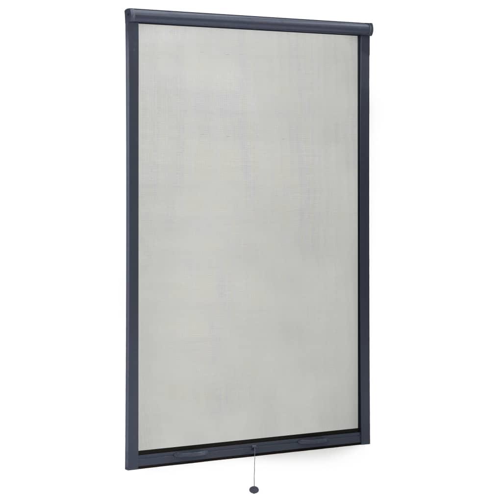 Roletová okenní síť proti hmyzu hliník antracitová 100 x 170 cm