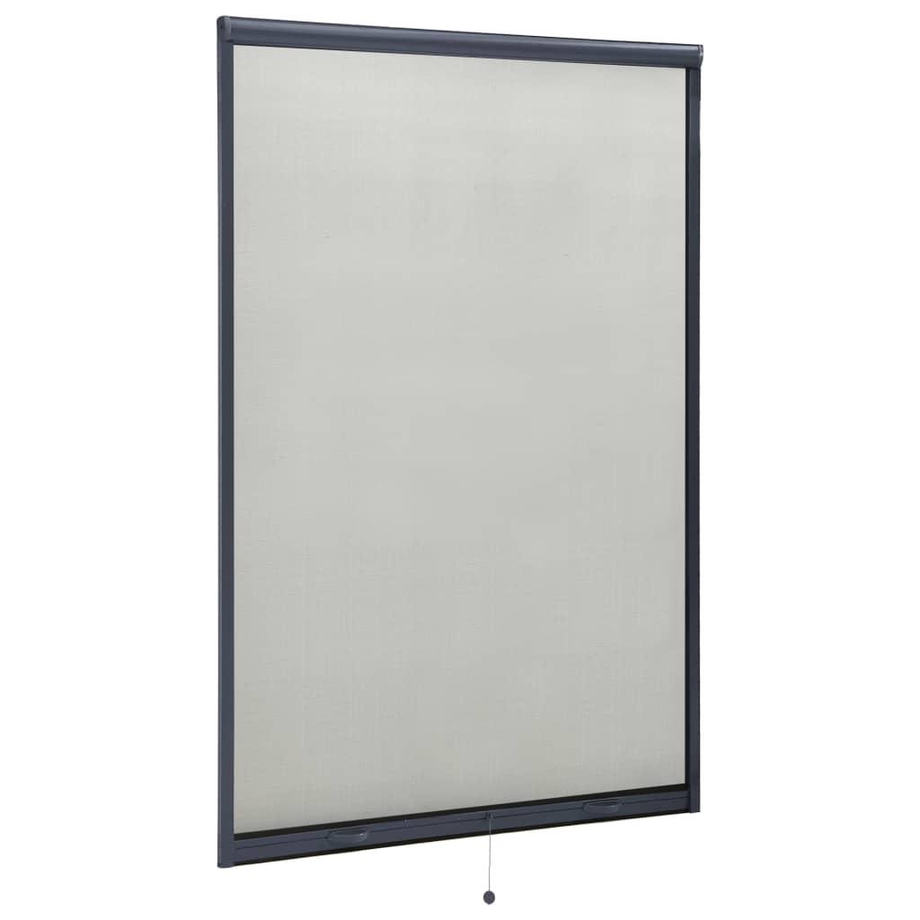Roletová okenní síť proti hmyzu antracitová 110 x 170 cm