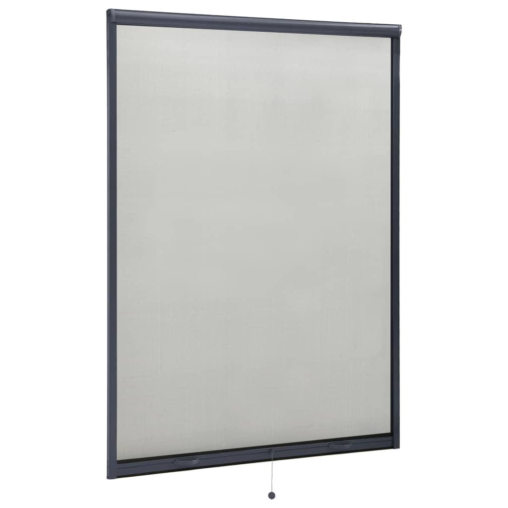 Roletová okenní síť proti hmyzu hliník antracitová 120 x 170 cm