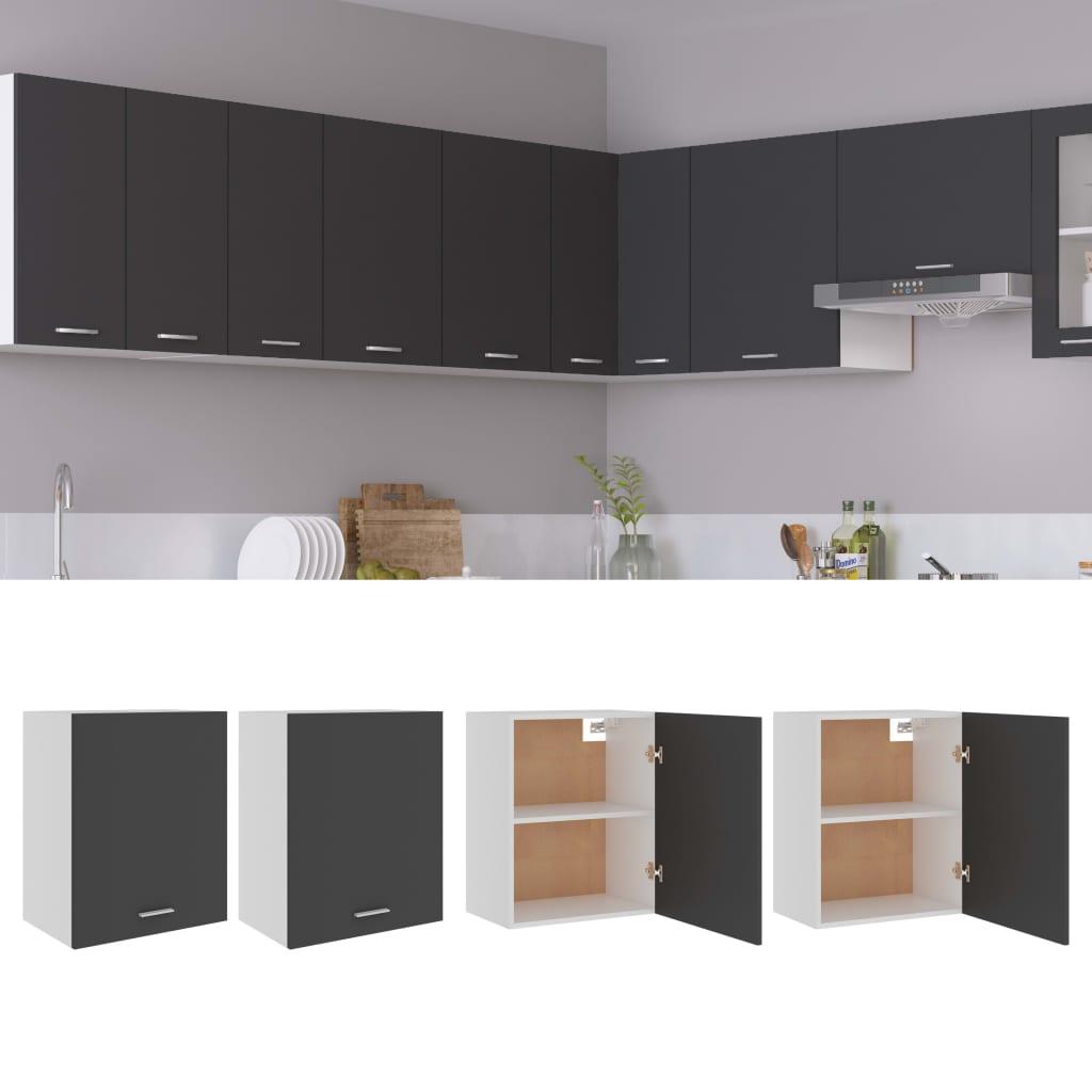 vidaXL køkkenskabe 2 stk. 50x31x60 cm spånplade grå
