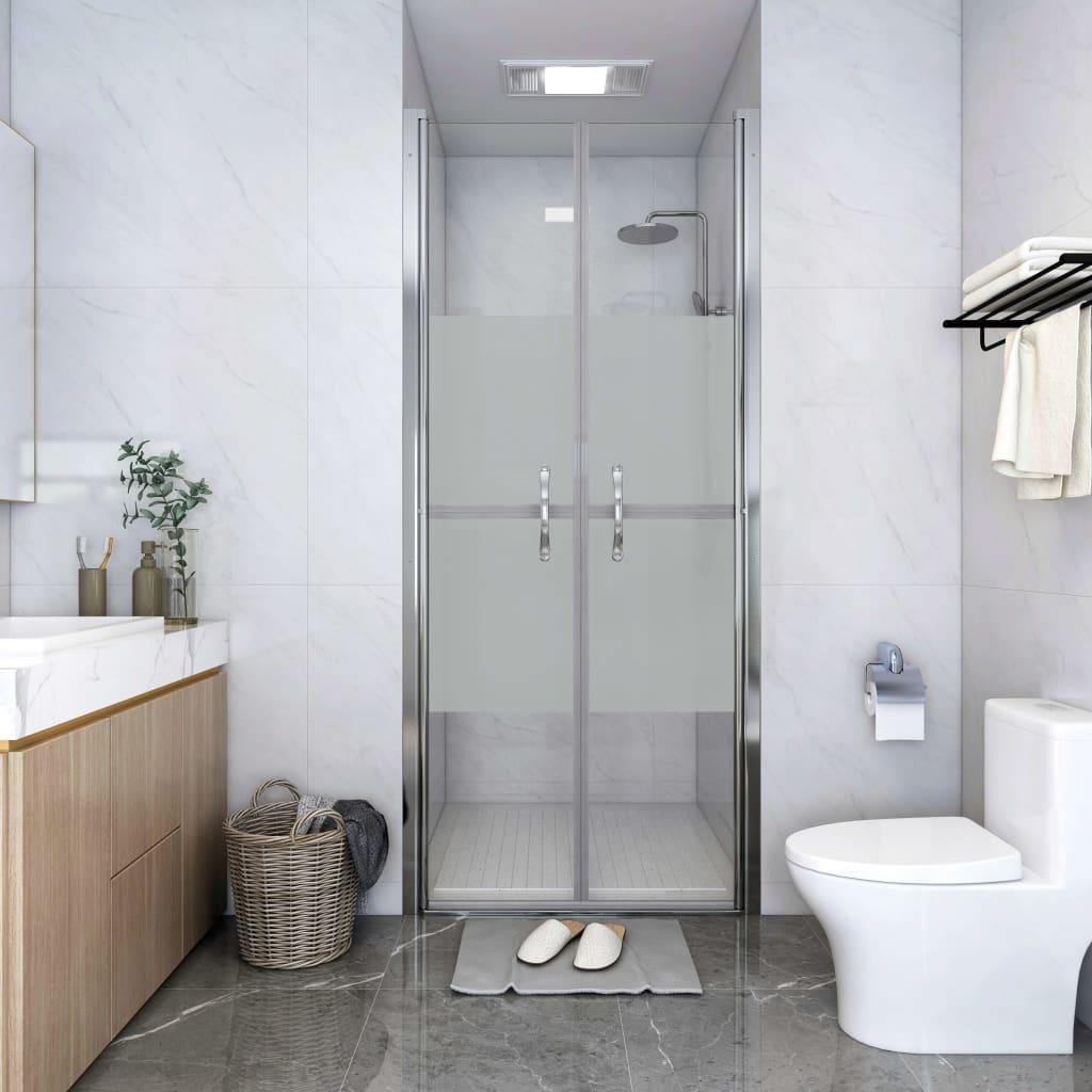 vidaXL Ușă cabină de duș, jumătate mat, 76 x 190 cm, ESG imagine vidaxl.ro