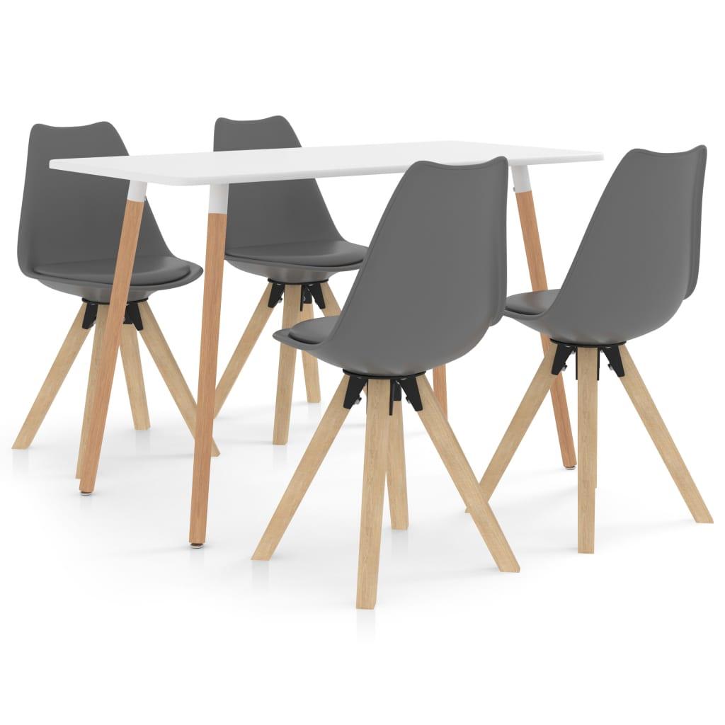 vidaXL Set mobilier de bucătărie, 5 piese, gri poza 2021 vidaXL