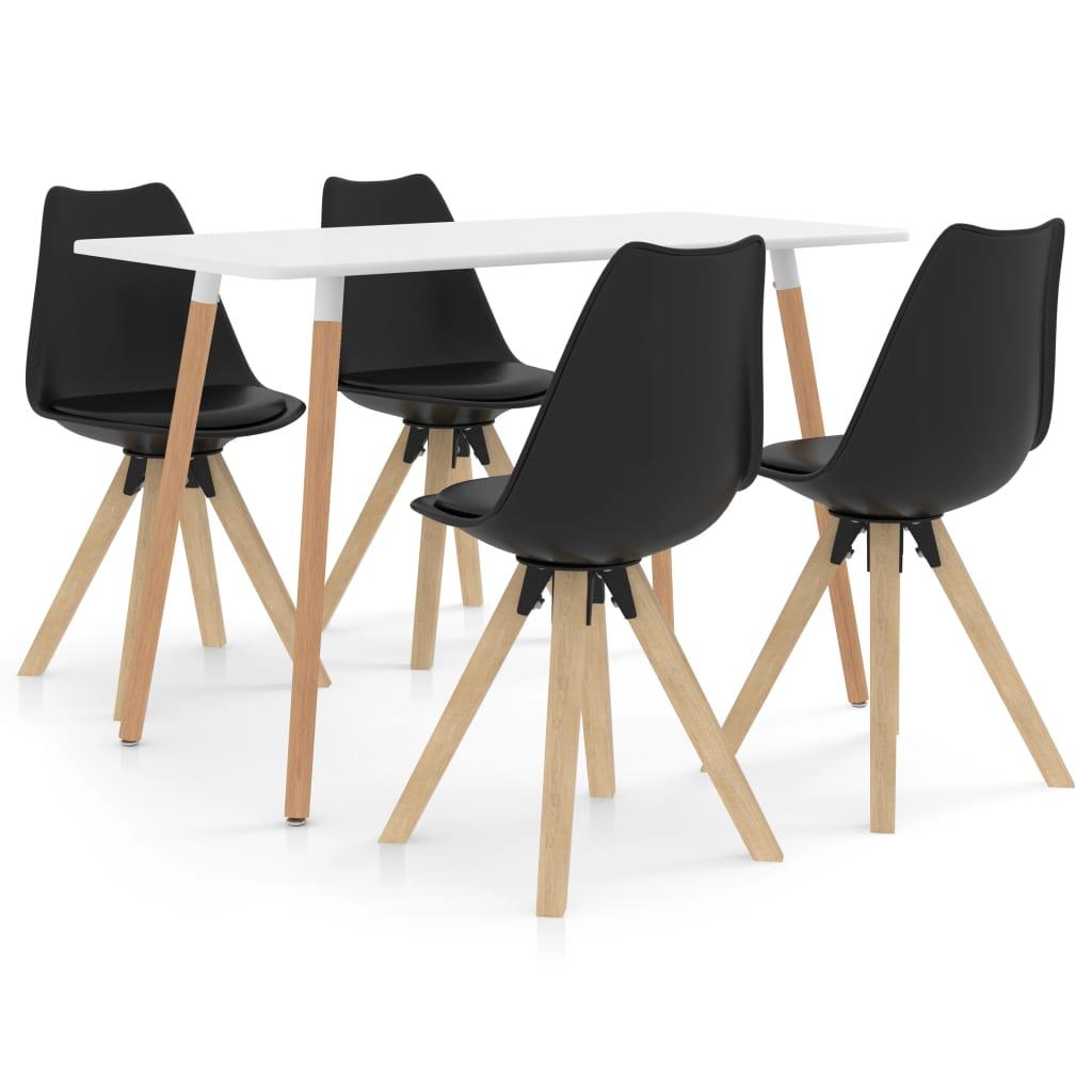 vidaXL Set mobilier de bucătărie, 5 piese, negru imagine vidaxl.ro