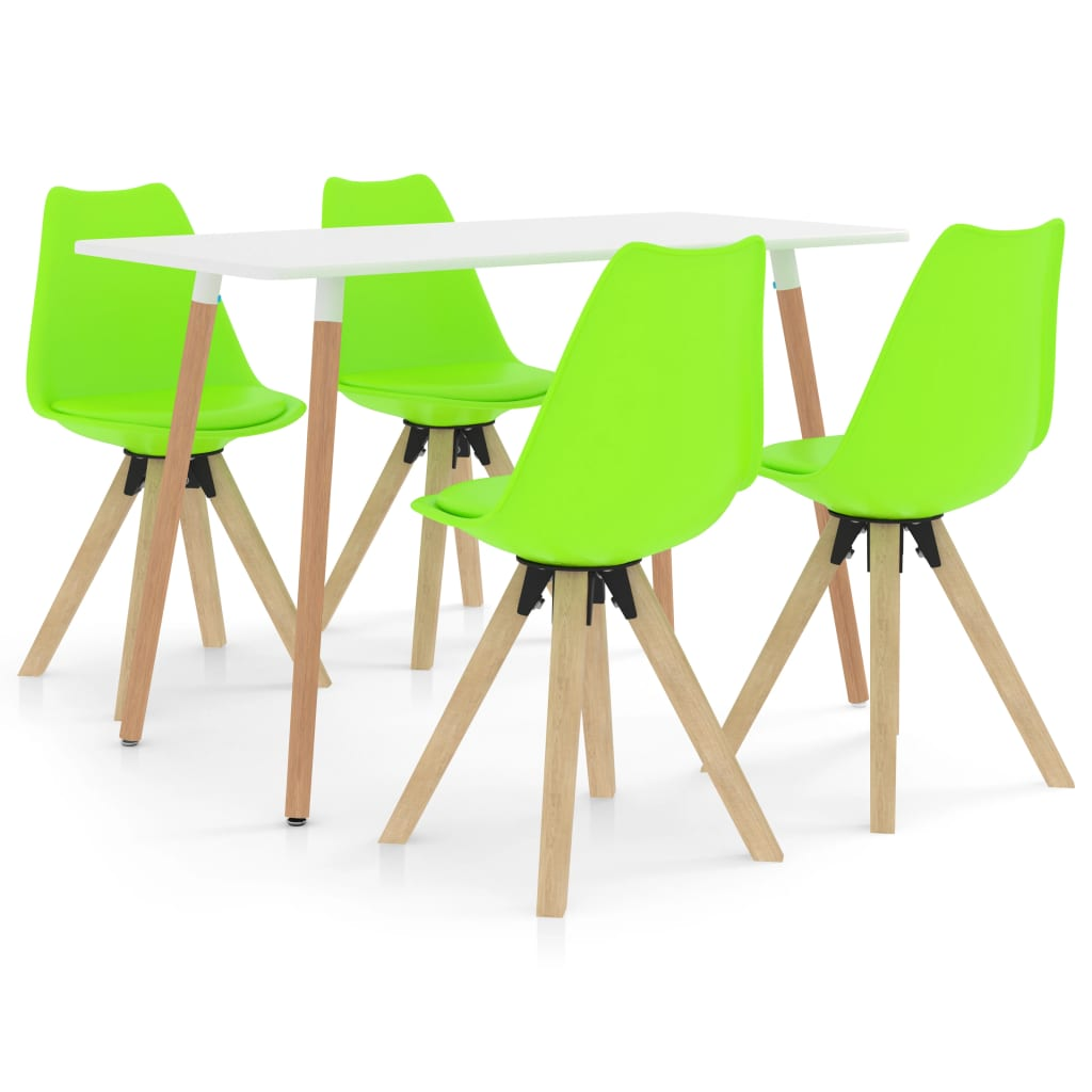vidaXL Set mobilier de bucătărie, 5 piese, verde poza vidaxl.ro