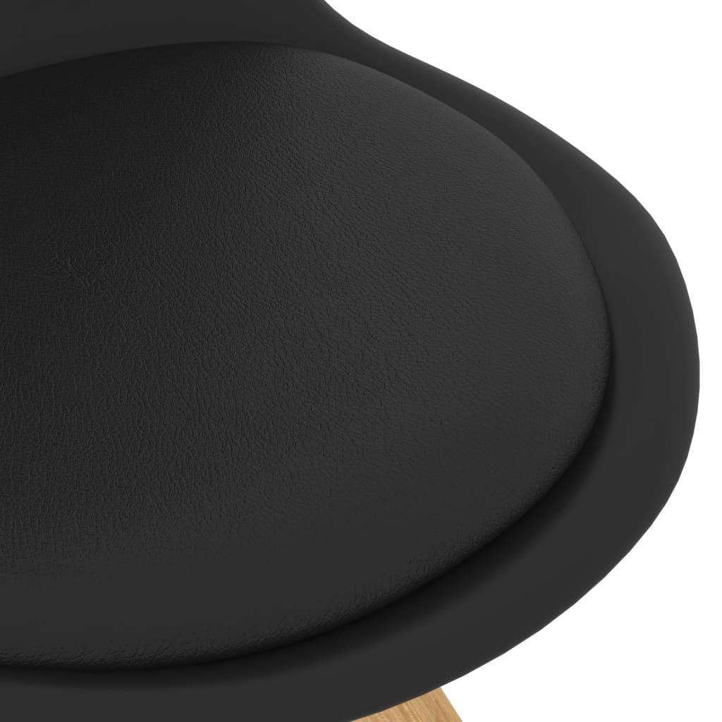 vidaXL 7-delige Eethoek zwart