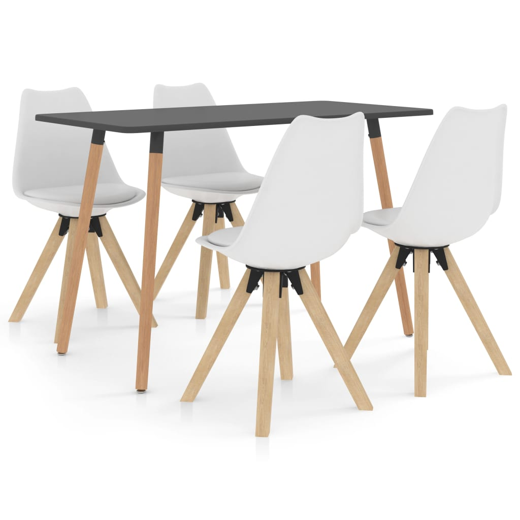 vidaXL Set mobilier de bucătărie, 5 piese, alb poza 2021 vidaXL